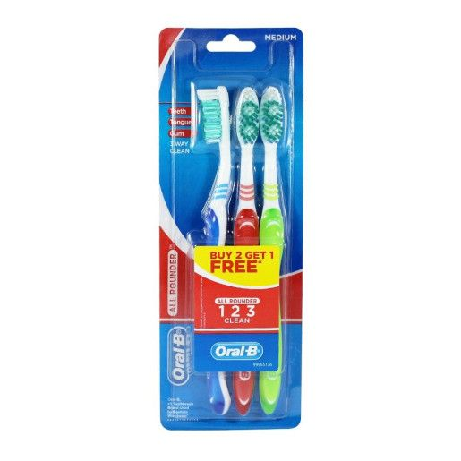 Oral-B, Periuta de dinti, 3 buc, All rounder, Medium