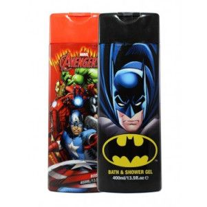 Marvel Gel de dus copii 400 ml Batman/Avengers