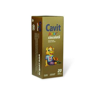 Cavit Junior ciocolata, 20 tablete, Biofarm