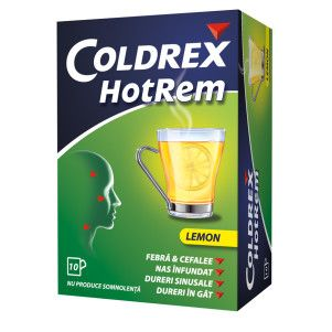 Coldrex HotRem Lemon x 10 plicuri, Gsk