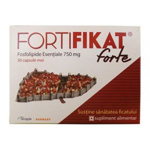 Fortifikat Forte fosfolipide esentiale 750mg, 30 capsule, Terapia