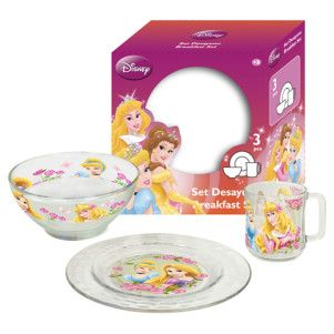 Set Mic Dejun Sticla Disney Princess
